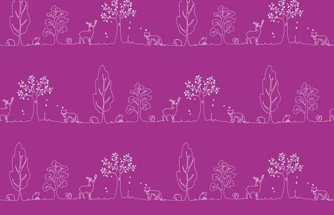 Woodland doodle fabric by coggon_(roz_robinson) on Spoonflower - custom fabric