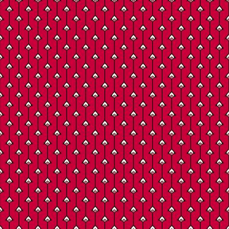 Eye Stripes Red fabric by siya on Spoonflower - custom fabric
