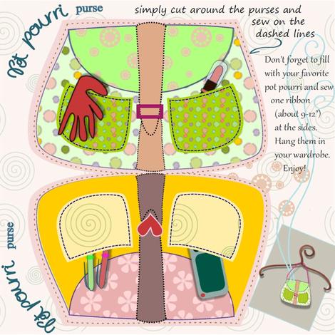purse pot pourri fabric by claudiavv on Spoonflower - custom fabric