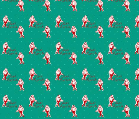 Let's Rock - Teal fabric by cherryandcinnamon on Spoonflower - custom fabric