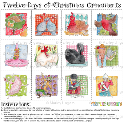 12 Days of Christmas Plushie Set