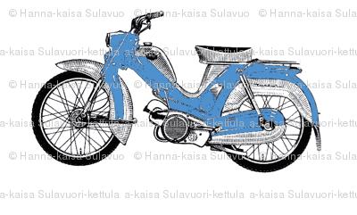 blue moped scooter Tunturi-ch