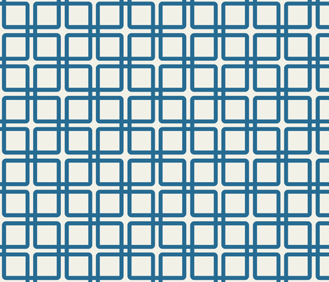 A Girl's Best Plaid: Blue fabric by frontdoor on Spoonflower - custom fabric