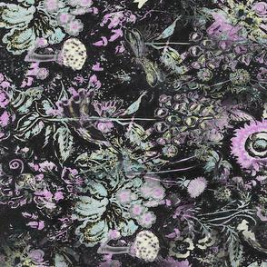 Light Sage and Pink Florals