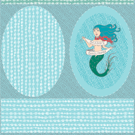 Holidays Ahoy! A FQ Of Nautical Holidays fabric by drizzlydaydesignco on Spoonflower - custom fabric