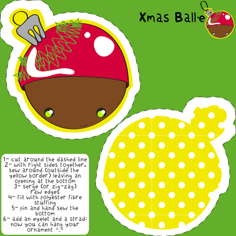 Xmas Ball·e ornament fabric by majobv on Spoonflower - custom fabric