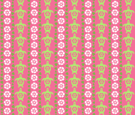 Coordinating Stripes in Greens and Pink fabric by coloroncloth on Spoonflower - custom fabric