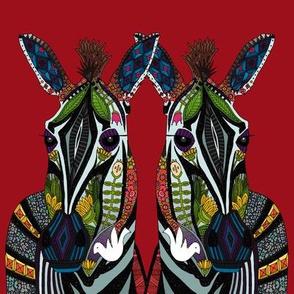 zebra love red swatch