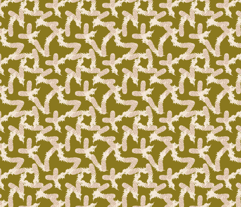 Scatter-Brained in Green fabric by miart on Spoonflower - custom fabric