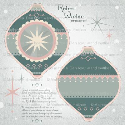 Retro Winter Ornament