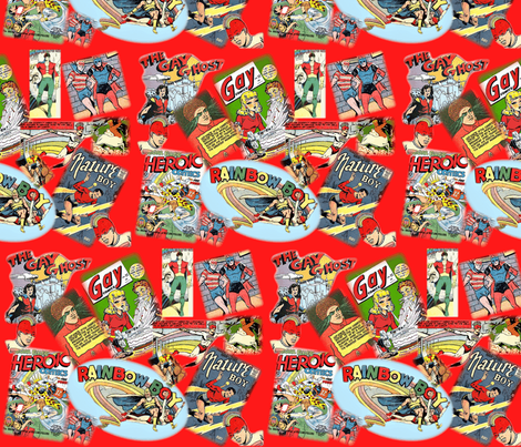 The Gay Old Days of Comics fabric by marchhare on Spoonflower - custom fabric