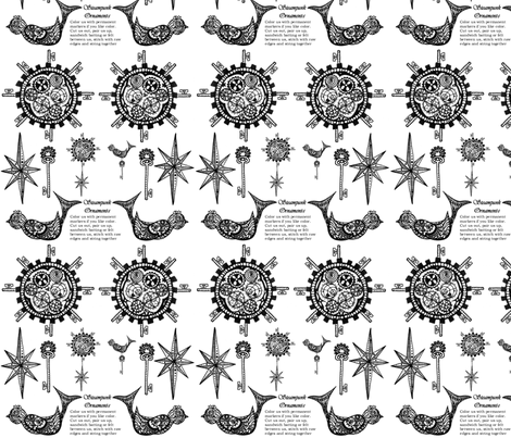 Color Me Steampunk Ornament fabric by fentonslee on Spoonflower - custom fabric