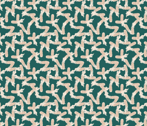Scatter-Brained in Teal fabric by miart on Spoonflower - custom fabric