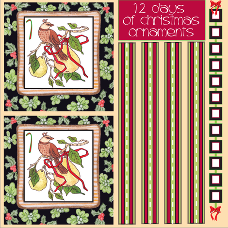 12Days -1partridge fabric by leslipepper on Spoonflower - custom fabric