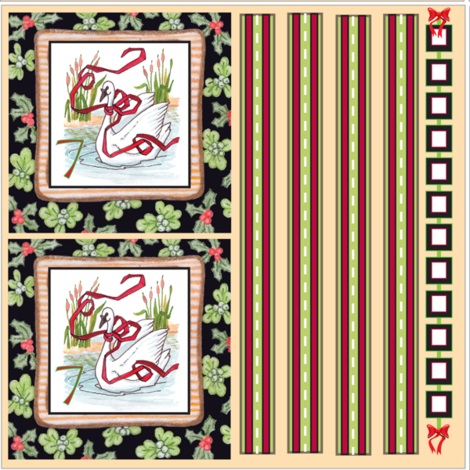 12 Days of Christmas 5-8 fabric by leslipepper on Spoonflower - custom fabric