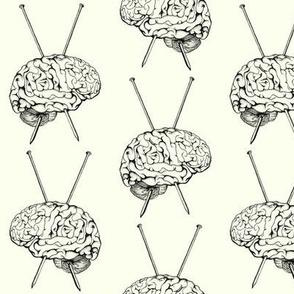 Knit for Brains Black
