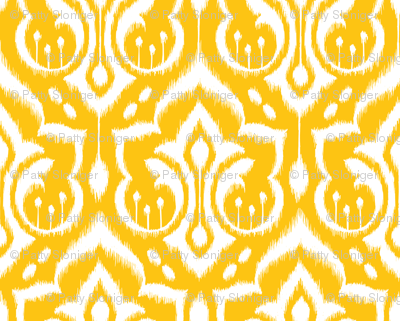 Ikat Damask - Golden Rod