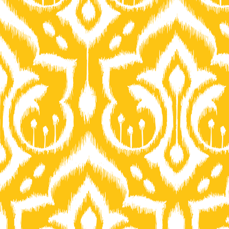 Ikat Damask - Golden Rod fabric by pattysloniger on Spoonflower - custom fabric