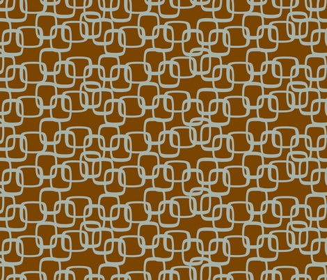 ModSquaresSeaOnBrn fabric by ghennah on Spoonflower - custom fabric