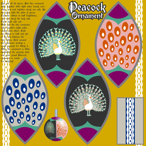 Peacock Ornament fabric by mrshervi on Spoonflower - custom fabric