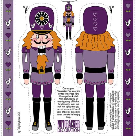 nutcracker_ornament_purple fabric by peppermintpatty on Spoonflower - custom fabric