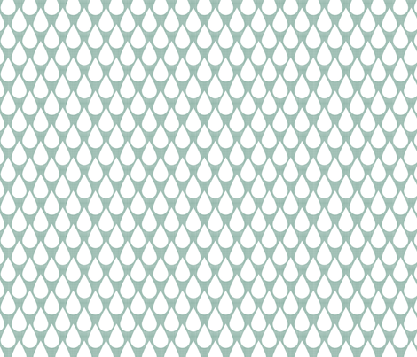 Rain Dops over light blue fabric by natitys on Spoonflower - custom fabric