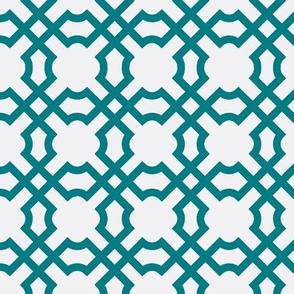 Geo Tile Teal Fury