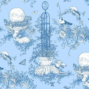 My Garden Toile Main Small Blue ©2011 by Jane Walker