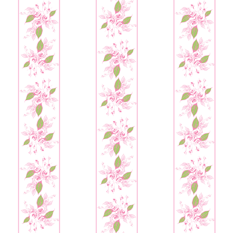 Sweetheart Rose pink stripe fabric by joanmclemore on Spoonflower - custom fabric