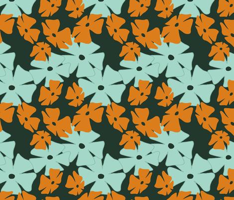 Thumbergina, Orange fabric by spugnardidesign on Spoonflower - custom fabric