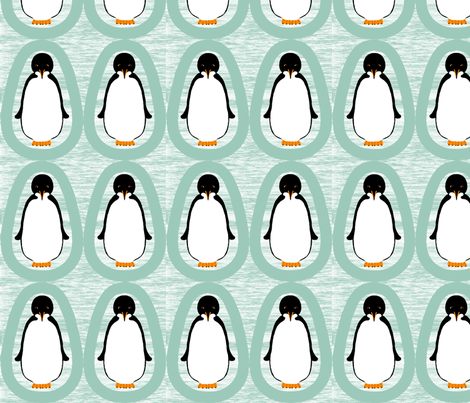 penguin_ornament_-_double_faced fabric by victorialasher on Spoonflower - custom fabric