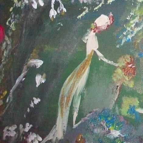 midnight dream garden fabric by myartself on Spoonflower - custom fabric