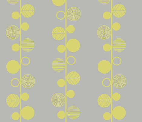 Linear leaves neutral wallpaper grey fabric by amel24 on Spoonflower - custom fabric