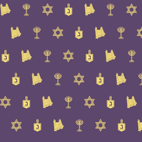 Hanukkah Motif purple