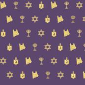 Hanukkah Motif purple