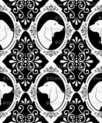 The Regal Basset Hound (White)