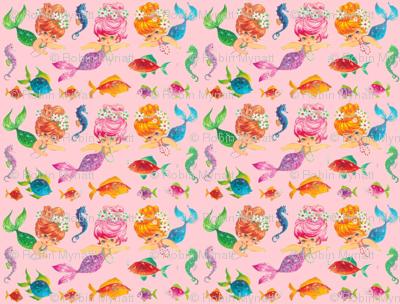 Mermaid Sparkles Pink Paris Bebe