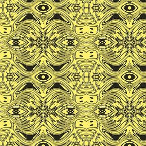 Evil eye -black and yellow
