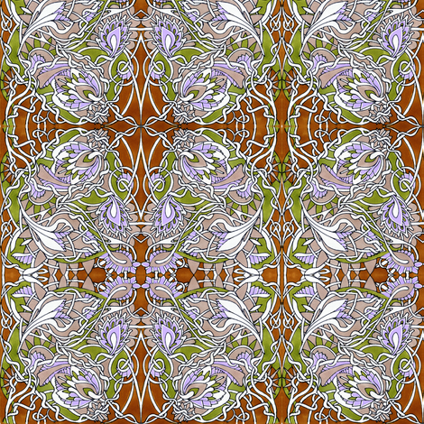 Briar Patch in Winter fabric by edsel2084 on Spoonflower - custom fabric