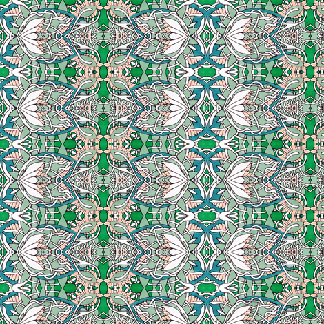 Art Deco influenced Vertical Flower Stripe fabric by edsel2084 on Spoonflower - custom fabric