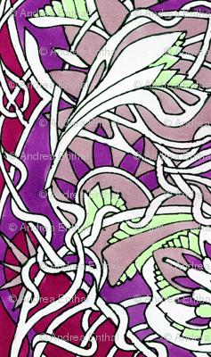 Art Nouveau Vertical Stripes
