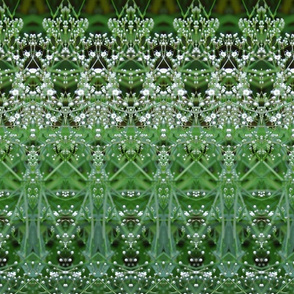 green white mosaic