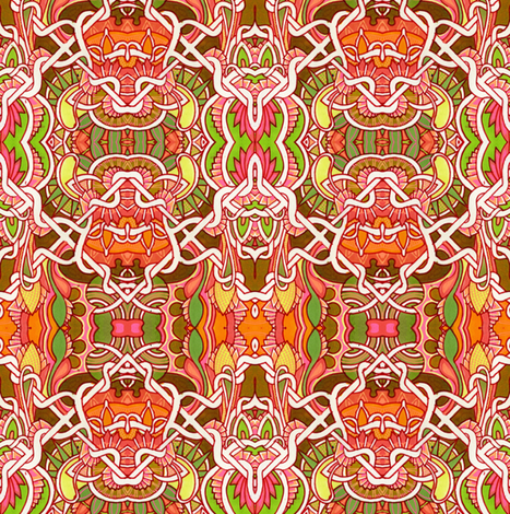 Orange Wallpaper Gavotte fabric by edsel2084 on Spoonflower - custom fabric