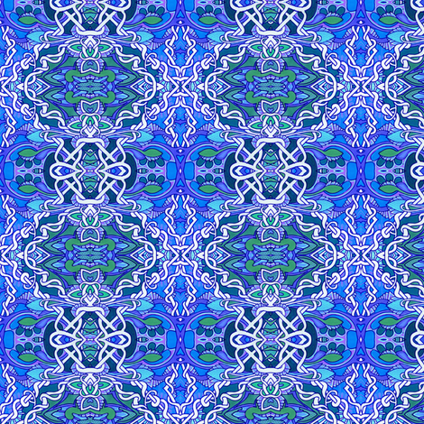 Tangled Up in blue fabric by edsel2084 on Spoonflower - custom fabric