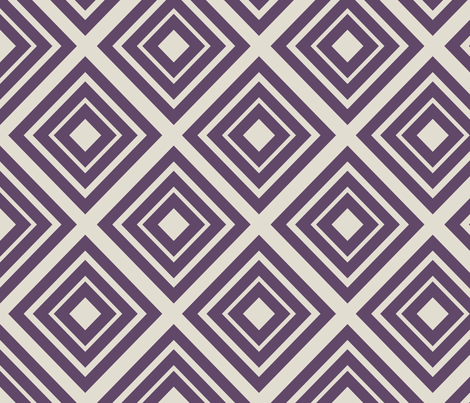 No Such Thing As Too Many Diamonds: Purple fabric by frontdoor on Spoonflower - custom fabric
