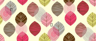 linear leaves bright wallpaper cream