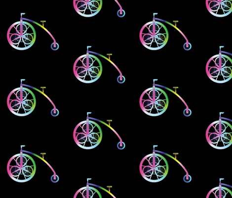 Steampunk Bicycle L fabric by animotaxis on Spoonflower - custom fabric