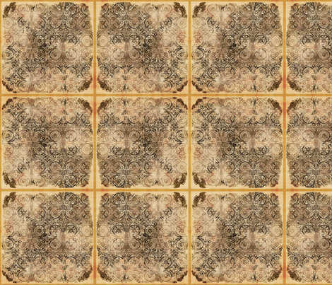 Steampunk Tiles, L fabric by animotaxis on Spoonflower - custom fabric