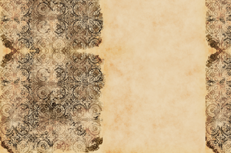 Steampunk Tiles, Border fabric by animotaxis on Spoonflower - custom fabric
