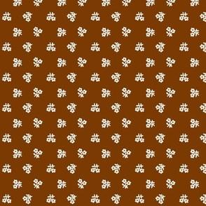 Warm brown & cream